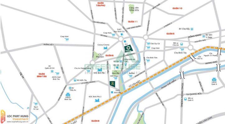 Vị trí căn hộ Sài Gòn Asiana